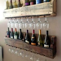 Pallets Projects are endless! | Just Imagine - Daily Dose of Creativity showed this to Casey and his response was you would never keep that much wine in the house. Lol