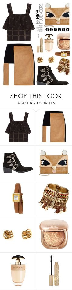 """Untitled #139"" by madhu-147 ❤ liked on Polyvore featuring ace & jig, River Island, Toga, Betsey Johnson, Gucci, Prada and Stila"