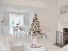 White & Faded Christmas-beautiful,but I would need a few pops of color or it would feel to cold.