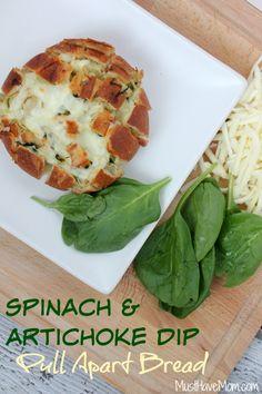 Spinach & Artichoke Dip Pull Apart Bread Recipe