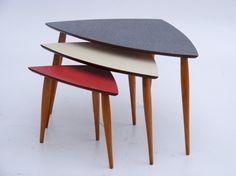 Formica 1950s nest of tables - vintage furniture