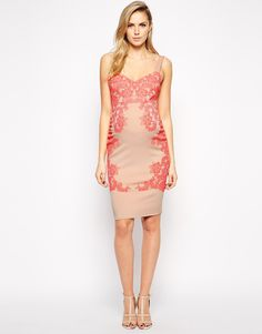 Image 4 of ASOS Maternity Body-Conscious Dress with Flocked Print