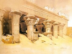 David Roberts Paintings : The Ancient Egyptian civilization and ...