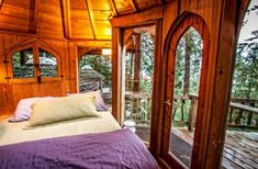 """Suzanne Dege's """"Hobbit Treehouse."""" Originally built by the legendary natural builder, SunRay Kelley. Located on Orcas Island in Washington State. The three circular pods are all connected by hallways,. 1 Bedroom House, One Bedroom, Brighton, Sweet Home, Orcas Island, San Juan Islands, Forest House, Woodland House, Lodges"""