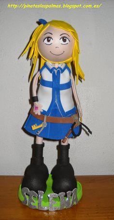Piñatas Las Palmas: Fofucha de Lucy de Fairy Tail
