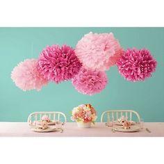 Martha Stewart Celebrate Decorative Pom Poms - Pink at HSN.com.