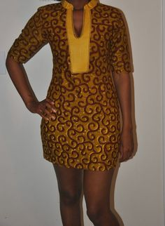 Beautiful  authentic  African print dress by IONBafricanstyles, $89.99