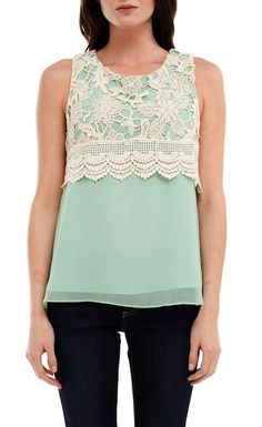 Lace Mint Top