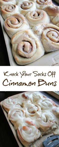 Cinnamon Buns that are sure to knock your socks off! They are soft and delicious and amazing and worth ever second it takes to make them!