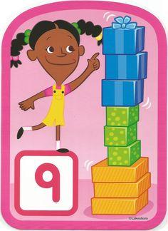 Numero 9 lámina, imagen, imprimir, preescolar, matematicas matemáticas número LAKESHORE