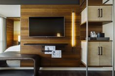 Guestroom At Atlanta Marriott Marquis Deisgned By New York Based Boutique Interior  Design Firm, Krause
