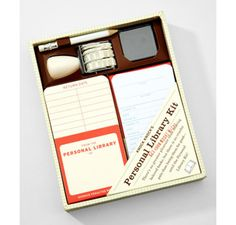 Personal Library Kit!  I would LOVE this!  And maybe it would help me remember who I lent my books to... haha