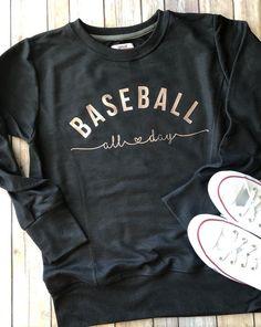 Baseball Sweatshirt Baseball Mom Shirt Baseball Mom Sweatshirt Baseball All Day Baseball Shirt Baseball Tank Baseball All Day Shirt Vinyl Shirts, Shirt Designs, My Style, Sweatshirts, Baseball Tank, Baseball Cleats, Baseball Games, Baseball Stuff, Baseball Mom Shirts Ideas