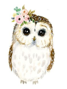 Watercolor baby owl baby illustration Owl painting Forest Animal Nursery rnrnSource by beatespie Owl Watercolor, Watercolor Animals, Watercolor Paintings, Baby Owls, Baby Animals, Owl Illustration, Animal Nursery, Owl Animal, Owl Art