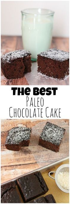 This paleo chocolate cake recipe uses mostly coconut flour. It's grain free, dai… This paleo chocolate cake recipe uses mostly coconut flour. It's grain free, dairy free, and uses honey or maple syrup and half the eggs than other recipes. Dessert Sans Gluten, Paleo Dessert, Dessert Recipes, Coconut Recipes, Dairy Free Recipes, Gluten Free Desserts, Paleo Recipes For Kids, Paleo Cake Recipes, Baking Recipes