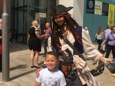 People of all ages were excited to meet Captain Jack