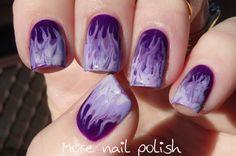 31DC2014: Violet - Purple fire drag marble ~ More Nail Polish