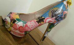 Ibiza inspired decoupage shoes by SHUmaze on Etsy https://www.etsy.com/listing/250687557/ibiza-inspired-decoupage-shoes