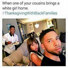 #LOL #ThanksgivingWithBlackFamilies