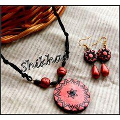 Terracotta jewellery set-Jewellery-Shikha