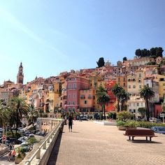 Menton, France is the last city in the French Rivera before you get to the Italian Border.