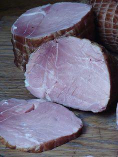 Izioni pyszne smaki: Wędzona szynka i schab Polish Recipes, Polish Food, Sausage Recipes, Preserves, Pork, Beef, Smokehouse, Poland, Russia