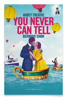 You Never Can Tell Written by Bernard Shaw Directed by Conall Morrison Design: Mark O'Brien Bernard Shaw, George Bernard, You Never Can Tell, National Theatre, Musicals, The Past, Canning, Baseball Cards, Writing