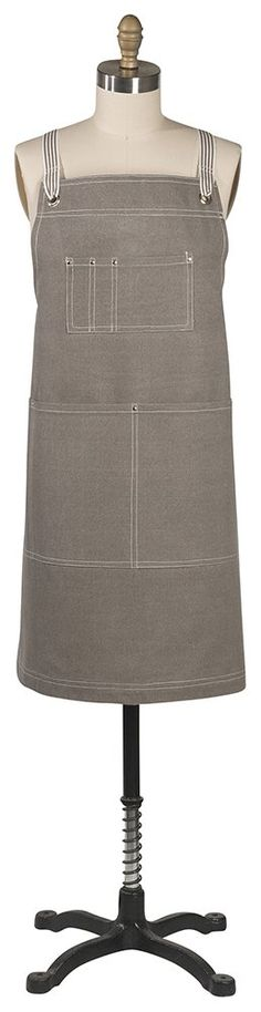 Mason Apron - Gray-The Mason apron pairs everyday ease with utilitarian style. Things To Buy, Stuff To Buy, Modern Classic, Apron, Studio, Grey, Collections, Style, Gifts