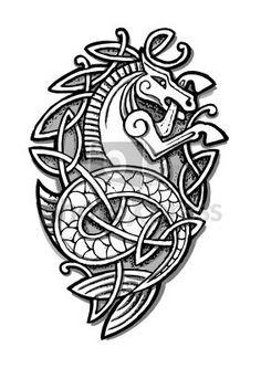 Celtic Sea Horse Tattoo