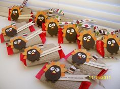 Stampin' Up!  Two Tags Die  Donna  Turkey Treats