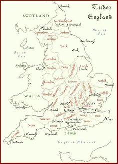 Tudor England map