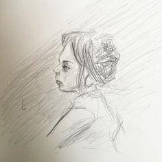 Melissa in motion. #artist #portrait #draw #drawing #sketch #artistsoninstagram