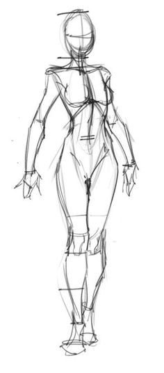 Esquisses et croquis pour apprendre a dessiner un personnage féminin
