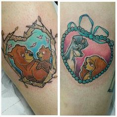 Brother Bear tattoo and The Lady and the Tramp tattoo