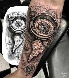 Sailor Compass Tattoo, Best Compass Did. - - Sailor Compass Tattoo, Best Compass Did… – You are in the right p - Cool Chest Tattoos, Arm Sleeve Tattoos, Full Sleeve Tattoos, Tattoo Sleeve Designs, Arm Tattoos For Guys, Tattoo Designs Men, Compass And Map Tattoo, Nautical Compass Tattoo, Compass Tattoo Design