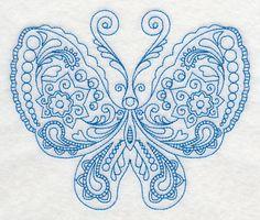 Mehndi Butterfly Urana design (K8443) from www.Emblibrary.com