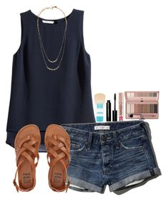 ~I wish it was summer~ by simply-natalee on Polyvore featuring polyvore fashion style H&M Abercrombie & Fitch Billabong Kate Spade Maybelline Bobbi Brown Cosmetics Urban Decay clothing
