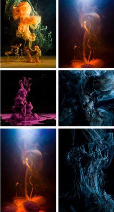 Luka Klikovac photographing paint underwater