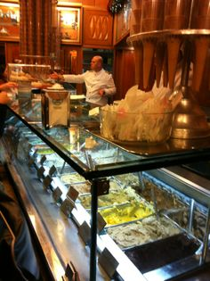 A veritable institution: one of Rome's oldest ice-cream parlours, Giolitti dates back to 1900 and is within my-cone-hasn't-melted distance of the Pantheon. Classic interiors complement the Italian versions of knickerbocker glory and peach melba. 40 via Uffici del Vicario, Rome 00186