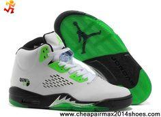 New White Black Green Women Air Jordan 5 (V) Fashion Shoes Shop