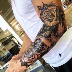 Flower Sleeve Tattoo - Best Half Sleeve Tattoos For Men: Cool Half Sleeve Tattoo. - Flower Sleeve Tattoo – Best Half Sleeve Tattoos For Men: Cool Half Sleeve Tattoo Ideas and Design - Half Sleeve Tattoos Forearm, Half Sleeve Tattoos For Guys, Half Sleeve Tattoos Designs, Full Sleeve Tattoos, Tattoo Designs Men, Hand Tattoos, Tattoos Pics, Flower Tattoos, Arm Tattoo Men