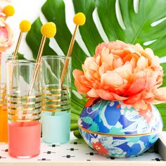 Oh Joy for Target Inspired Orb Cake Plate and Faux Flower Vase