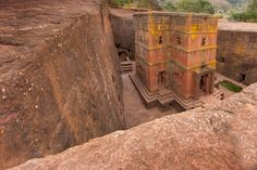 Africa | St. George's Church, rock-hewn from the 12th century ...