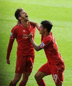 Adam Lallana had scored the first Liverpool goal of his career earlier in the match, much to his delight.