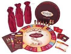 Zinzig Wine Tasting And Trivia Board Game by True. This would be fun for game night with adults!