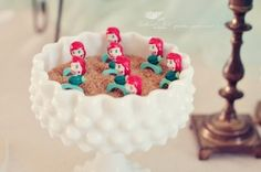 Ariel rings for a mermaid birthday party favors
