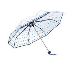 Clear Umbrella Folding Rain Umbrella (Blue) Sunflower Umb…