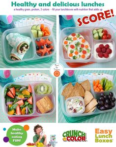 Fun and healthy is easy with #easylunchboxes and @Jennifer Milsaps L Tyler Lee / Crunch a Color