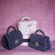 how to make crochet bags and purses