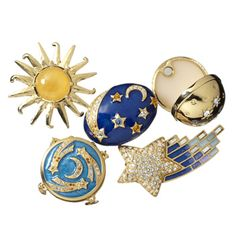 Sun moon and stars Estee Lauder solid perfume compacts (ditch the scent, but love the packaging)